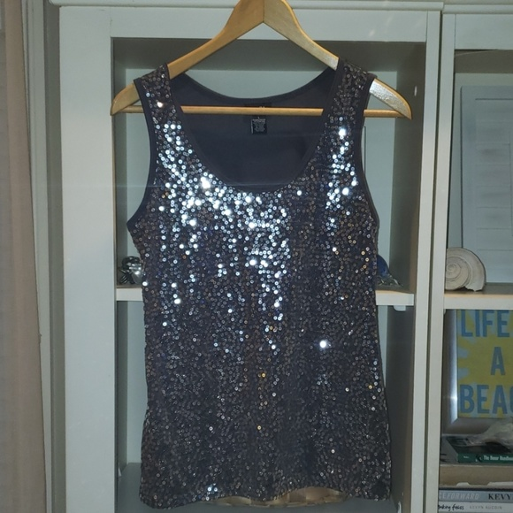 Rue21 Tops - Silver Sequin Tank sz. Large